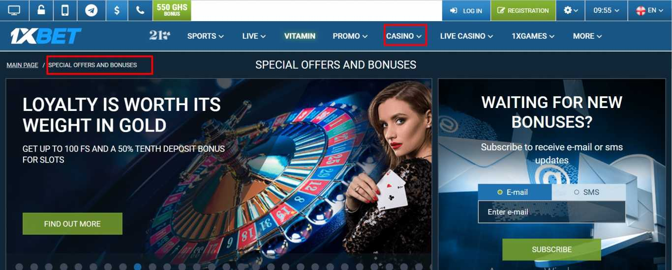 Where I can find 1xBet casino bonus